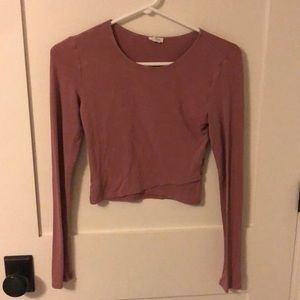 Pink crop top from Garage size small fits tight